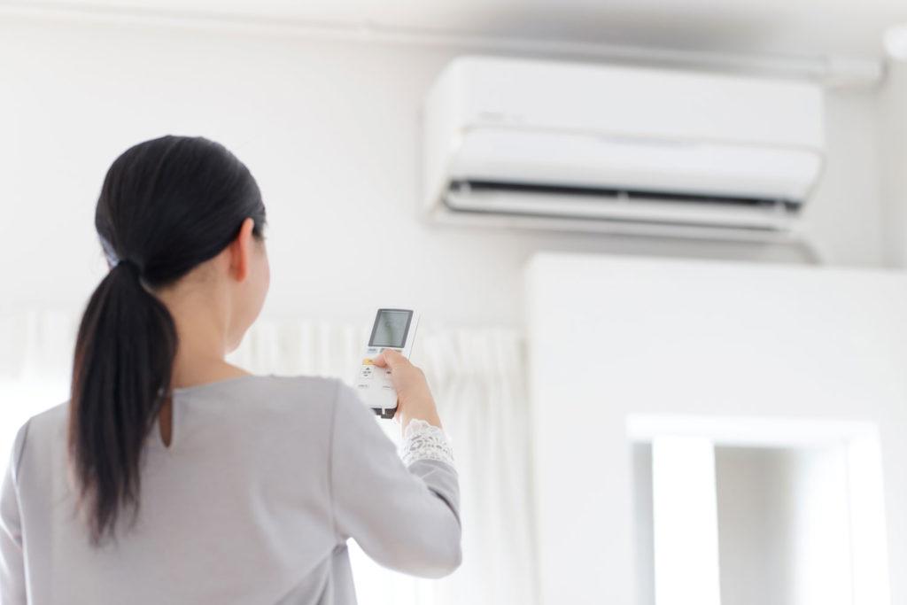 Climatisation femme télécommande